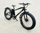 電動自転車(アシスト版)「サンドバイク26」極太タイヤ ファットバイク 36Vリチウムイオンバッテリー...