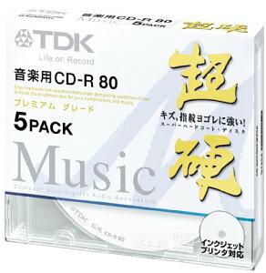 ★CD-RHC80PWX5A TDK 音楽用CD-R ハードコート仕様 超硬シリーズ 80分 …