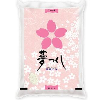 New 25 annual dream with all thy 5 kg Fukuoka rice rice Koshihikari rice