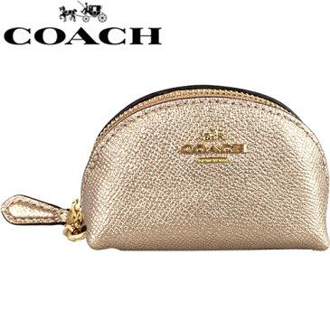【ポイント5倍】 送料無料 コーチ コインケース ハーフムーン ローズ ゴールド Coach Brand F37572