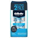 【ポイント5倍】 ジレット Gillette メンズ クールウェーブ クリア ジェル 制汗剤 デオドラント 107g x 2個 ツインパック 海外 デオドラント アメリカ 1