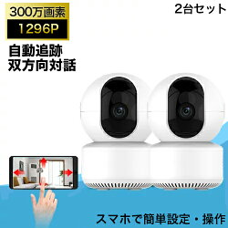 防犯カメラワイヤレス監視カメラ屋内用セット200万画素配線不要録画機不要スマホ遠隔監視「A1-X20RJ」2台お買い得カメラセットベビーカメラ家庭用