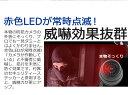 ダミーカメラ 防犯カメラ 赤色LED搭載 ドーム型 かんたん設置 電池式 防犯ステッカー付き 防犯 不審者を威嚇 配線不要 壁掛け天井 HL01(黒) 3