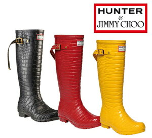 【即納】Jimmy Choo×HUNTERジミーチュウ × ハンターJimmy Choo x Hunter Wellington Bootsコ...