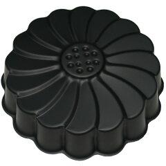 【ケーキ型】 型離れがよくお手入れ楽々♪ Black マルグリット型17cm