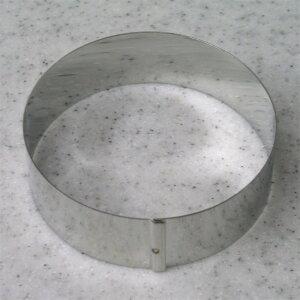 イングリッシュマフィンに最適サイズ♪ ステンレスセルクル丸 φ85×H25mm