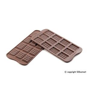バレンタインにおすすめ【チョコレート型】スイートクロスハートツーシリコーンモールドプレー...
