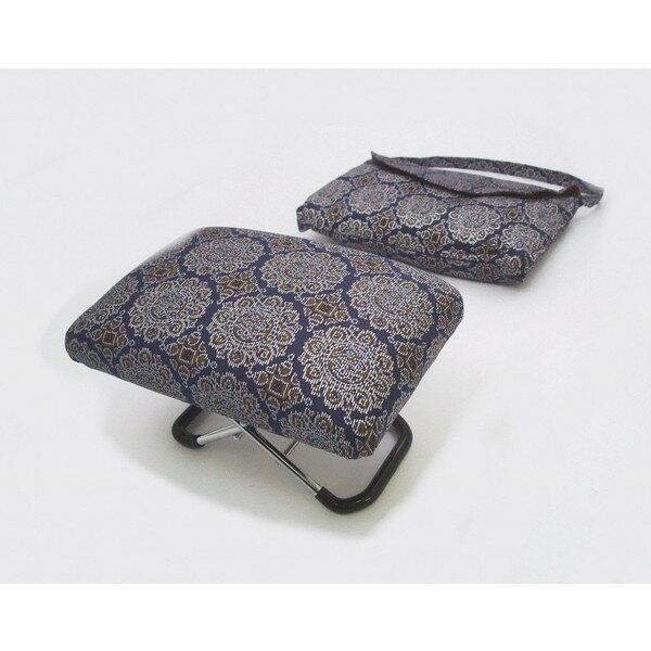 正座 らくらく 椅子 携帯用 大寸 (s3233)正座椅子 巾着袋付き コンパクト 座椅子 和装小物 仏事 長時間の正座に 日本製 【お取り寄せ商品】