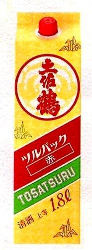 土佐鶴 上等酒(上撰) ツルパック赤 1800ml