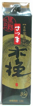 雲海酒造 本格芋焼酎 さつま木挽 黒麹仕込み 25度 1800ml パック