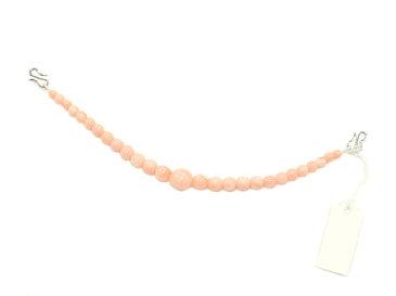 女物 お洒落用 羽織紐 -珊瑚/サーモンピンク- [ 1601-1947 ] はおり 着付け小物 球 ギフト プレゼント 贈り物 母の日 敬老の日 誕生日 女性 レディース さんご ひも S管 金具 街着 普段着 カジュアル