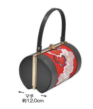 振袖用 草履バッグセット Mサイズ(刺繍半襟付き) -さくら/グレー・赤系- [ 0609-121 ] 【ふりそで・着物・きもの・素材・成人・正月・お祝い・パーティー・24.0cm・素材・はな・さくら・古典・和柄・女性・女物・マット・半衿・はんえり】