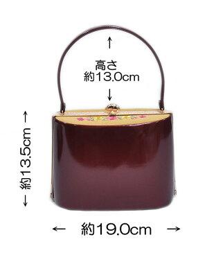 振袖用 草履バッグセット Lサイズ -花刺繍/ワインレッド・芥子・ゴールド系- [ 1702-2262 ] 【ふりそで・着物・きもの・素材・成人・正月・お祝い・パーティー・24.5cm・素材・はな・古典・和柄・女性・女物・臙脂】