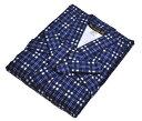 紳士 ネル寝間着 全7柄 [ 0610-037 ]【楽ギフ_のし】【男性・男物・メンズ・綿・めん・パジャマ・ねまき・父の日・敬老の日・プレゼント・贈り物・日本製・紺・チェック・紐】