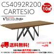 Calligaris CS4092-R 200CARTESIOカルテジオ木製天板ダイニングテーブル天板P201ウォールナット 脚P16 マットグレー