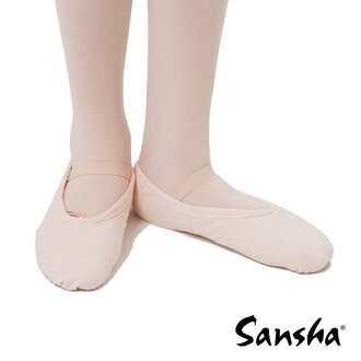 Santiacanvas ballet shoes full sole dance, slippers and electone too! [Pink] [shose 01]
