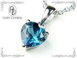6万4,800円→6,480円90%OFF≪ハートの天然宝石≫ブルートパーズ天然宝石ネックレス/芦屋ダイヤモンド正規品