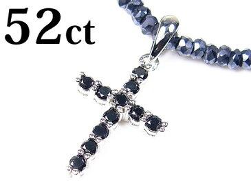 52ctブラックダイヤモンドクロス/グレースピネル/コラボ/宝石ネックレス/芦屋ルチル/P19Jul15