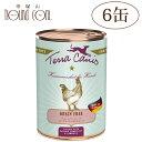 テラカニスグレインフリーチキン400g6缶セット 犬用缶詰一般食穀物不使用ドッグフードウェットフード無添加チキンとパースニップダンデライオンカモミール送料無料 主食 手作り食 トッピング 水分補給