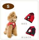 ハーネス 犬用/ASHU ウェアハーネス S/小型犬/子犬 老犬にもソフトな服型 ベスト型の布製ウエア...