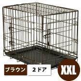 犬 ケージ 折り畳みできるペットケージ<2ドアタイプ> XXLサイズ【超大型犬用】【全国送料無料】