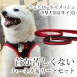犬用ハーネス ASHUウェアハーネス リードセット L 小型犬 中型犬 喉 器官に優しい 痛くないソフトメッシュ ペット用