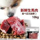 犬 馬肉 生馬肉 ブロック 10kg 酵素 プロバイオティクス オメガ3補給 ペット 生肉 生食ローフードとして 中型犬 大型犬 お徳用 ドッグフード 生肉 手作り食 犬用馬肉 【a0015】 高齢犬 シニア その1