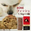 【おまけ付き】犬 生肉 無添加 ドッグフード ボーン BONE フィッシュ 魚 1.1kg×3箱 生食 ローフード 野菜入り 酵素 乳酸菌 生骨 子犬の離乳食 老犬の流動食 介護 消化 高齢犬 シニア その1