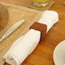 アタとラタンで編まれた四角いナプキンリング[2521]【ナプキンホルダー レストラン備品 店舗…