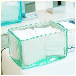 小物入れとしても使える♪バリ島の人気アジアン雑貨手作りガラスで出来たコットンケース[12x8cm...