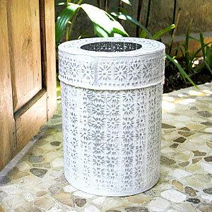 ゴミ袋が見えない二重構造だから見た目も◎バリ島の人気アジアン雑貨アルミ製インナー付きゴミ...