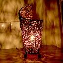 アジアン照明 くるんと丸まった形のラタン編みカール アジアン ランプ[...