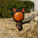お座りした木彫りの小さなバリネコの アジアン オブジェ[Mサイズ][9247]【木彫りの動物 バリ島のネコ ねこ 猫の置き物 インテリア置物 飾り ウッドオブジェ 彫刻 木製デコレーション バリ アジアン雑貨アジア工房 おしゃれ】
