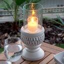 ガラスとウッドの筒形のキャンドルホルダー(12800)【 キャンドルホ...