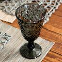 グラス 脚付き ダイヤモンドカット ガラス製 230cc ワイン グレー [98301]【 ワイングラス 脚付きグラス ウォーターグラス ステムグラス コップ ギフト おしゃれ 】