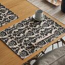 ウォーターヒヤシンスのアジアンランチョンマット[ブラック×ナチュラル][10807]【テーブルウェア ...