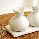 陶器でできた小瓶[ホワイト色][8252]【アロマオイル容器 陶器の瓶 アロマ オイルボトル 瓶 ア ...