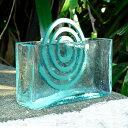 ガラスで出来たフレスコタイプの アジアン 蚊遣り[10016