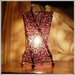 アジアン照明 ラタンで編まれたツイスト型 アジアン ランプ[10065]【アジアンランプ アジ…