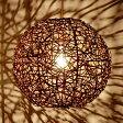 【LED電球対応】アジアン照明 ラタンのペンダントライト[ビッグボール][ブラウンウォッシュ][4332]【6畳 おしゃれ アジアンランプ インテリア ペンダント シーリング ペンダントライト モダン ライト ランプ リビング 天井照明 間接照明 アジアン雑貨 ペンダントランプ】