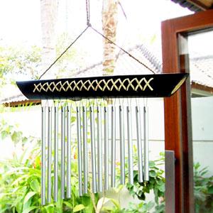 心癒される音色を奏ででくれるバリ島の人気アジアン雑貨バンブーとステンレスで出来た優しい音...