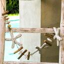 流木で出来たオーナメント (ロング)【ヒトデホワイト】(12291)【置物 飾り 壁飾り ディスプレイ インテリア置物 アジアン置き物 バリ島のオブジェ インテリアデコレーション 装飾 オーナメント バリ アジアン雑貨】