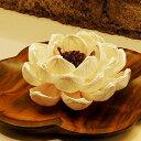 優しい雰囲気のお花をモチーフにしたバリ島の人気アジアン雑貨コーンリーフのデコレーションフ...