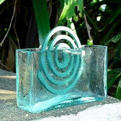 蚊取り線香も洗練されたインテリアに!淡く涼しげなガラスの蚊取り線香入れガラスで出来たフレ...