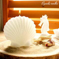 ビーチリゾート感溢れる爽やかなホワイトキャンドル☆プチギフトにおすすめシェルキャンドル(61...