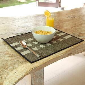 天然素材を使ったアジアンランチョンマット。いつもの食卓でレストランの雰囲気を味わえるバリ...