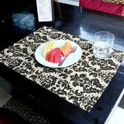 ウォーター ヒヤシンス アジアンランチョンマット ブラック ナチュラル テーブル プレースマット ランチョン アジアン ランチョ おしゃれ キッチン エスニック