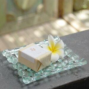 ソープディッシュや小物置きとしても使えるバリ島の人気アジアントレイガラスのソープディッシ...