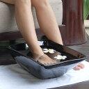 バリ島のスパで見かけるマホガニーウッドの木製スパボウル(四角形タイプ)【インドネシア製バ...