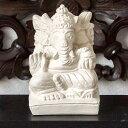 手のひらサイズの小さなガネーシャ アジアン 石像[Sサイズ](65420)【バリ 雑貨 アジア雑貨 アジアン雑貨ガネーシャの彫刻 石像 アジア工房 オブジェ インテリア 石の彫刻 アジアンオブジェ 玄関先 庭 ガーデニング おしゃれ】
